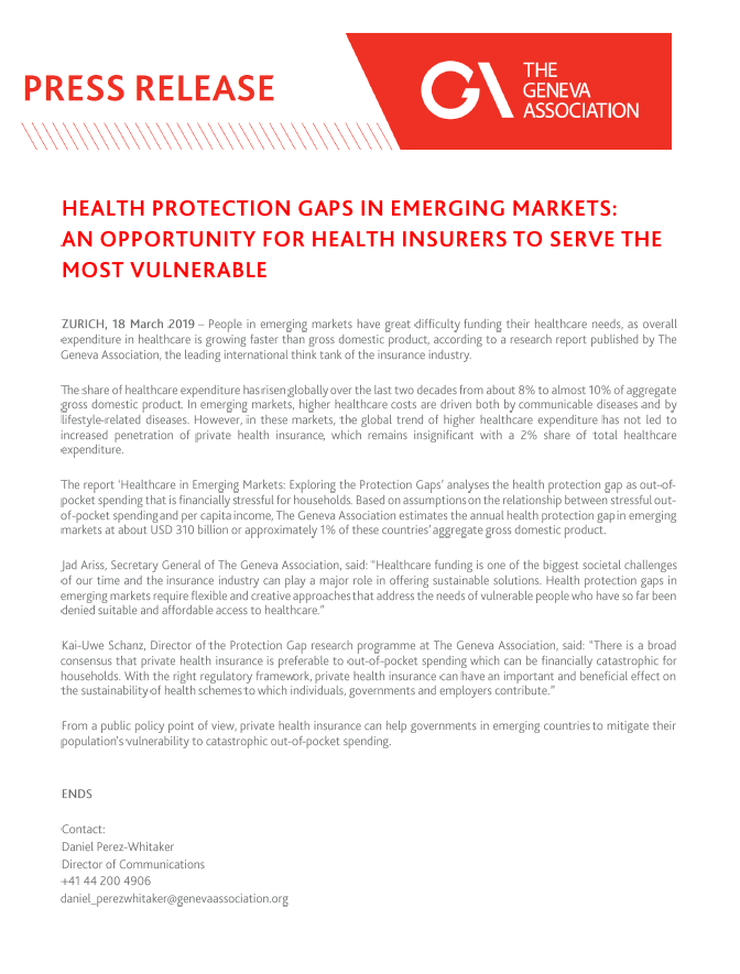 Healthcare protection gaps in emerging markets: An opportunity for health insurers to serve the most vulnerable