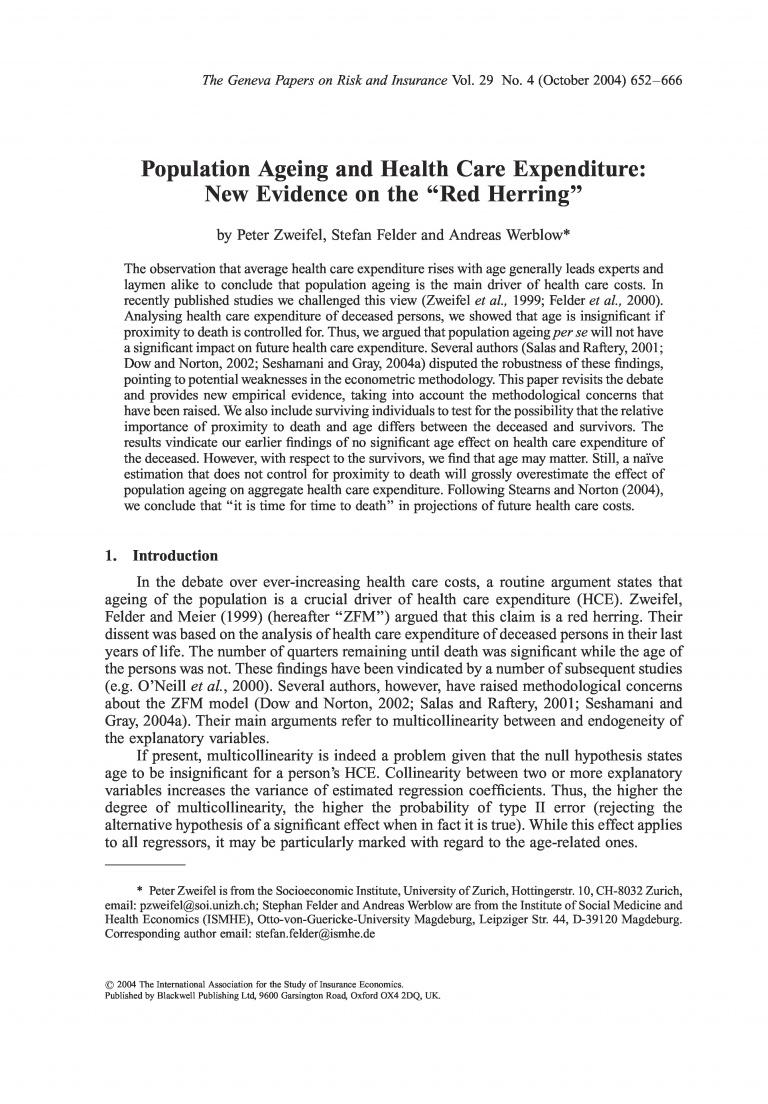 Publication document front page