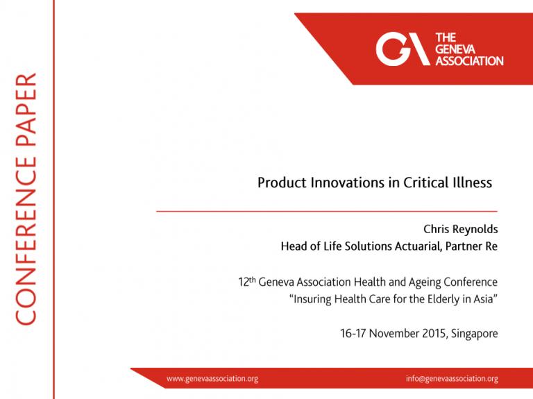 Product Innovations in Critical Illness | Geneva Association